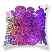 Purple Floral Indian Pattern Throw Pillow