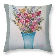 Floral Inked Throw Pillow