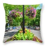 Floral Island Throw Pillow