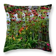 Floral Landscape Throw Pillow