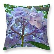 Floral Landscape Blue Hydrangea Flowers Baslee Troutman Throw Pillow