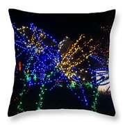 Floral Lights Throw Pillow