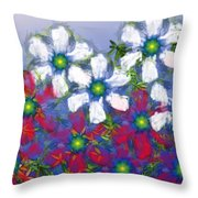 Floral Madness 2 Throw Pillow