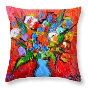 Floral Miniature - Abstract 0115 Throw Pillow
