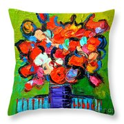 Floral Miniature - Abstract 0315 Throw Pillow