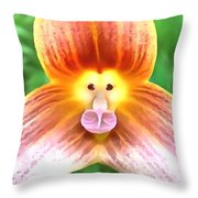 Floral Monkey Pink Yellow And Red Throw Pillow