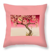 Floral Moon Throw Pillow