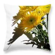 Floral No4 Throw Pillow