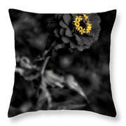 Floral October Zinnia End Of Season Sc 02 Vertical Throw Pillow