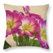 Floral Oil Painting Throw Pillow