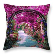Floral Pathway Throw Pillow