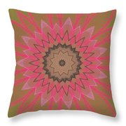 Floral Petals With Hearts Throw Pillow