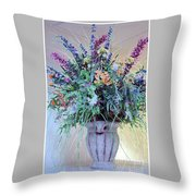 Floral  Piece Throw Pillow
