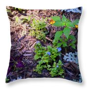 Floral Print 003 Throw Pillow