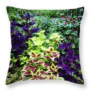 Floral Print 005 Throw Pillow