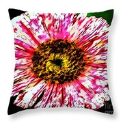 Floral Red And White Painting  Throw Pillow