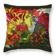 Floral Reef Throw Pillow