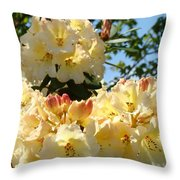 Floral Rhododendrons Fine Art Photography Art Prints Baslee Troutman Throw Pillow