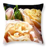 Floral Roses Garden Art Prints Baslee Troutman Throw Pillow