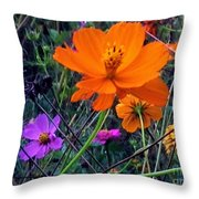 Floral Show Throw Pillow