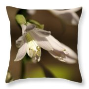 Floral Sideview Throw Pillow