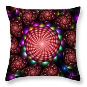 Floral Spiral Throw Pillow