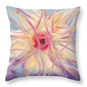 Floral Spirit Of Growth Throw Pillow