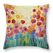Floral Splendor II Throw Pillow