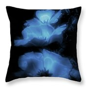 Floral Spring Tulips 2017 Blue Vertical Throw Pillow
