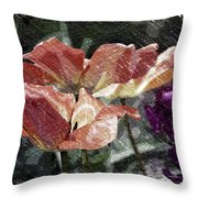 Floral Spring Tulips 2017 Pa 02 Throw Pillow
