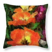 Floral Spring Tulips 2017 Pa 02 Vertical Throw Pillow