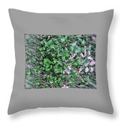 Floral Still Life -pastel Throw Pillow