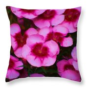 Floral Study In Red And Pink Throw Pillow