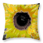 Floral Sunbeam Throw Pillow