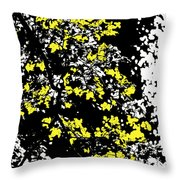 Floral Surprise Throw Pillow