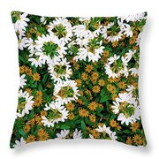 Floral Texture In The Summer Throw Pillow