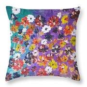 Floral Theme Throw Pillow