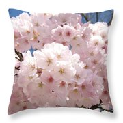 Floral Tree Blossoms Flowers Pink Art Baslee Troutman Throw Pillow