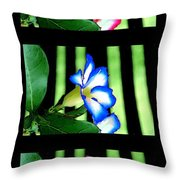 Floral Triptych Throw Pillow
