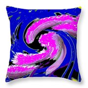 Floral Twist Throw Pillow