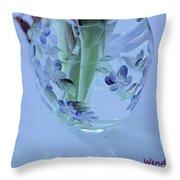 Floral Vase Throw Pillow