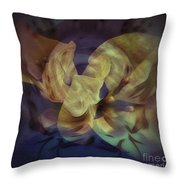 Floral Vortex Throw Pillow