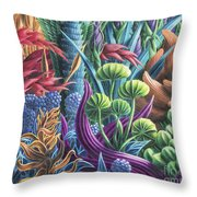 Floral Whirl Throw Pillow