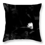 Floral Yellow Peek A Boo Bw Throw Pillow