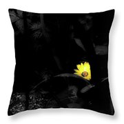 Floral Yellow Peek A Boo Sc Throw Pillow