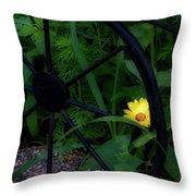 Floral Yellow Peek A Boo Throw Pillow
