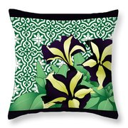 Floral Zellige Design 3 Throw Pillow