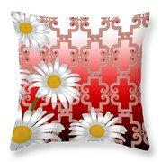Floral Zellige Design 4 Throw Pillow