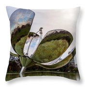Floralis Generica, Buenos Aires, Argentina Throw Pillow
