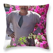 Floraman Throw Pillow